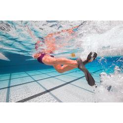 Schwimmflossen kurz Easyfins 100 grau