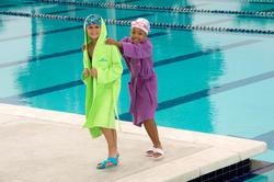 Set voor kinderen met een gele microvezel badjas en gele microvezel handdoek M - 1038359