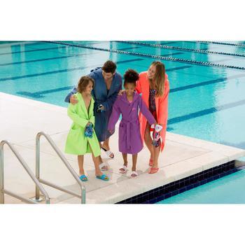 Peignoir microfibre natation enfant avec capuche, poches et ceinture - 1038360