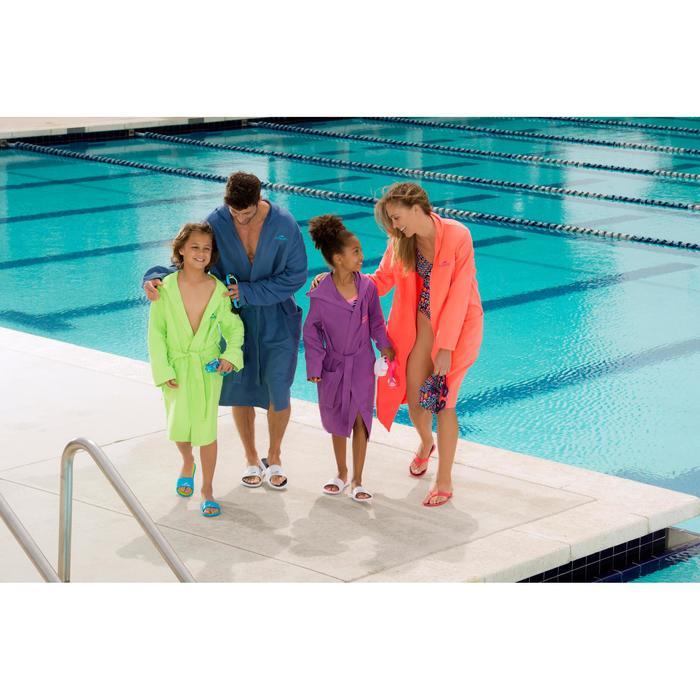Kids' Microfibre Bathrobe with Hood, Pockets and Belt - Light Blue