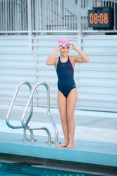 Complete zwemset Leony+ voor meisjes blauw/roze - 1038362