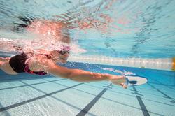 Peddel Fingerpaddle Quick'in voor zwemmen wit/blauw - 1038367
