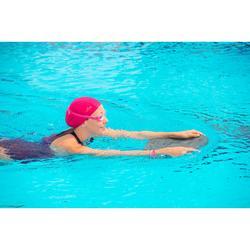 Gorro de natación de tela de punto rosa talla S y L