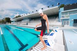 Wedstrijdzwempak B-Fast zwart rood - 1038441