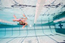 Peddel Fingerpaddle Quick'in voor zwemmen wit/blauw - 1038486
