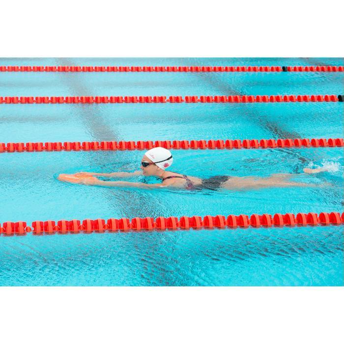 Schwimmbrille Selfit 500 Korrekturgläser L schwarz/rot