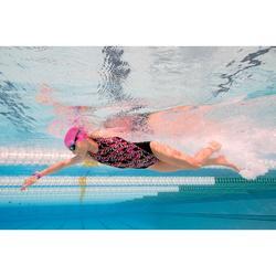 Maillot de bain de natation une pièce fille résistant au chlore Kamiye jely noir