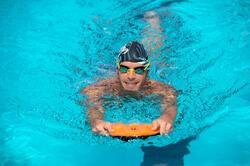 Pullkick zwemmen zwart/oranje - 1038559