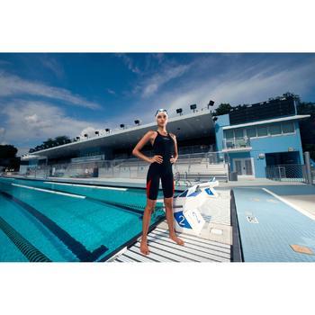 Wedstrijdzwempak FINA dames B-Fast zwart rood