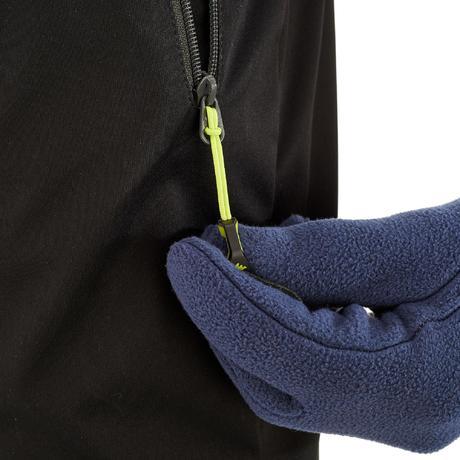 pantalon ski de fond coupe vent junior noir quechua. Black Bedroom Furniture Sets. Home Design Ideas