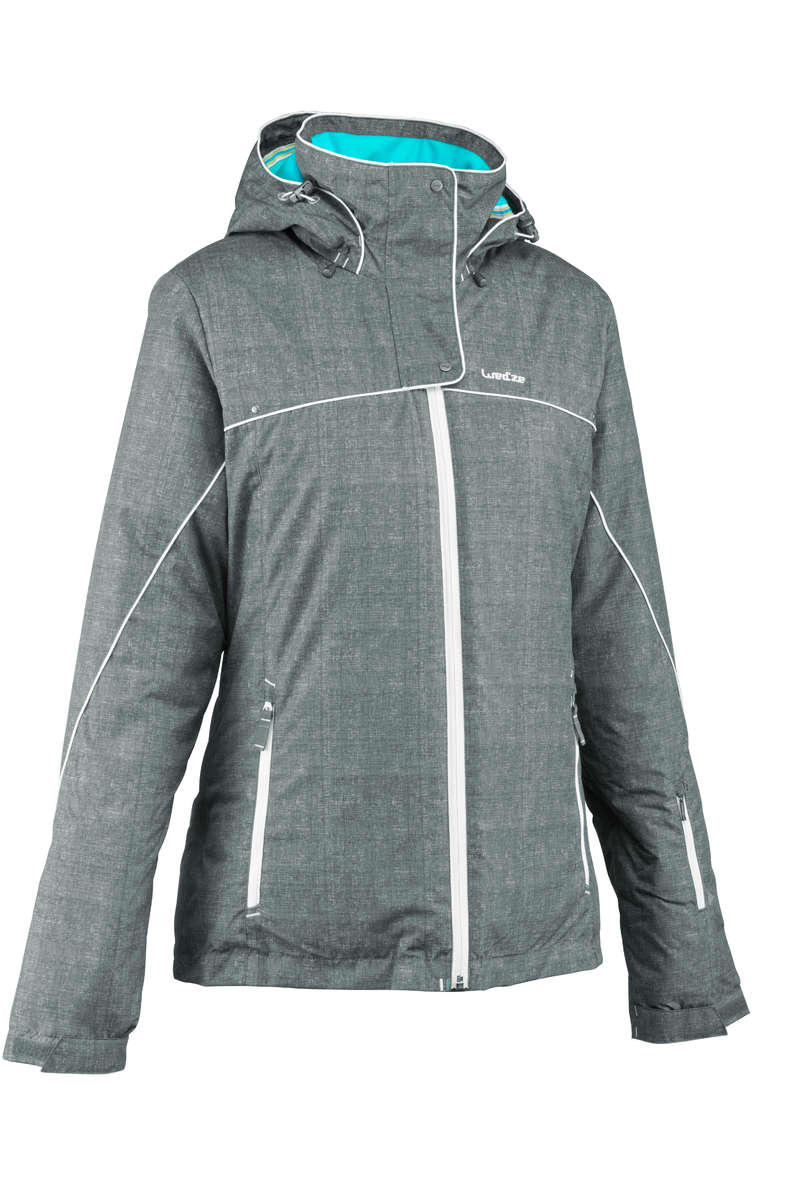 WOMEN'S CLOTHING BEGINNER SKIERS - SLIDE 300 WOMEN'S SKI JACKET - GREY WEDZE