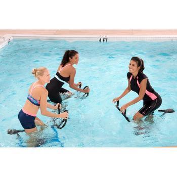 Parte de abajo forma shorty aquabike mujer resistente al cloro Anna gris rosa