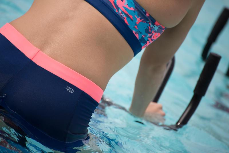 Anna Chlorine-Resistant Aquabiking Crop Top - All Crac Orange