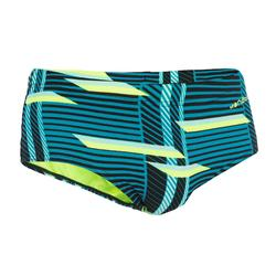B-Strong Men's Swim Briefs Swimming Trunks - All Lini Green