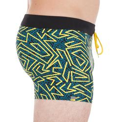100 PEP MEN'S BOXER SWIM SHORTS - YELLOW
