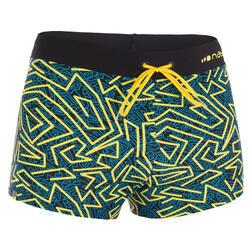100 PEP 男士平口泳褲- 黃色