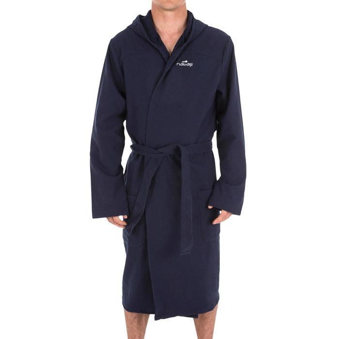 Lichte katoenen heren badjas met bindceintuur