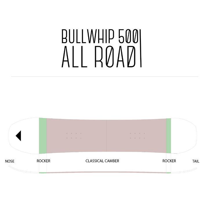 Pack piste en all-mountain snowboard heren Bullwhip 500 All Road grijs en geel