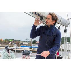 Warme zeiltrui voor heren Sailing 100 marineblauw