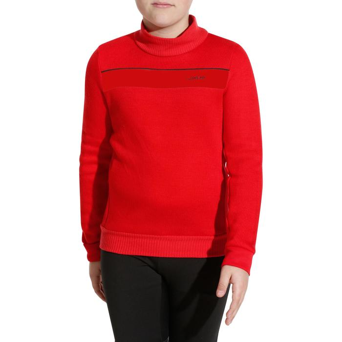 Skipullover Mid Warm 100 Kinder rot