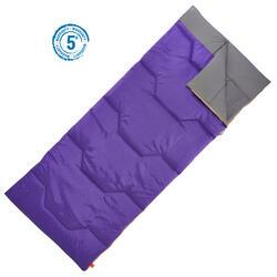 Schlafsack Camping Arpenaz 15°C malve