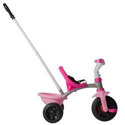 Driewieler met duwstang Be Move roze