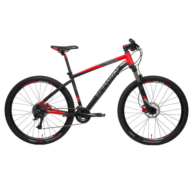 MEN SPORT TRAIL MTB BIKE - ST 560 Mountain Bike, Black/Red - 27.5