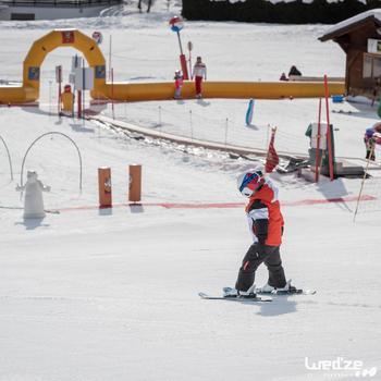 兒童滑雪靴100 - 白色
