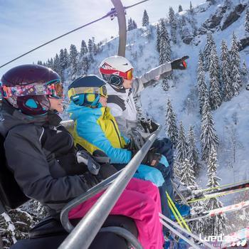 MASQUE DE SKI ET DE SNOWBOARD HOMME BONES 500 BEAU TEMPS GRIS-18 - 1042213