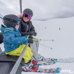 Skijacke 100 Damen schwarz