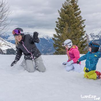 Skihandschoenen Slide 100 voor kinderen wit