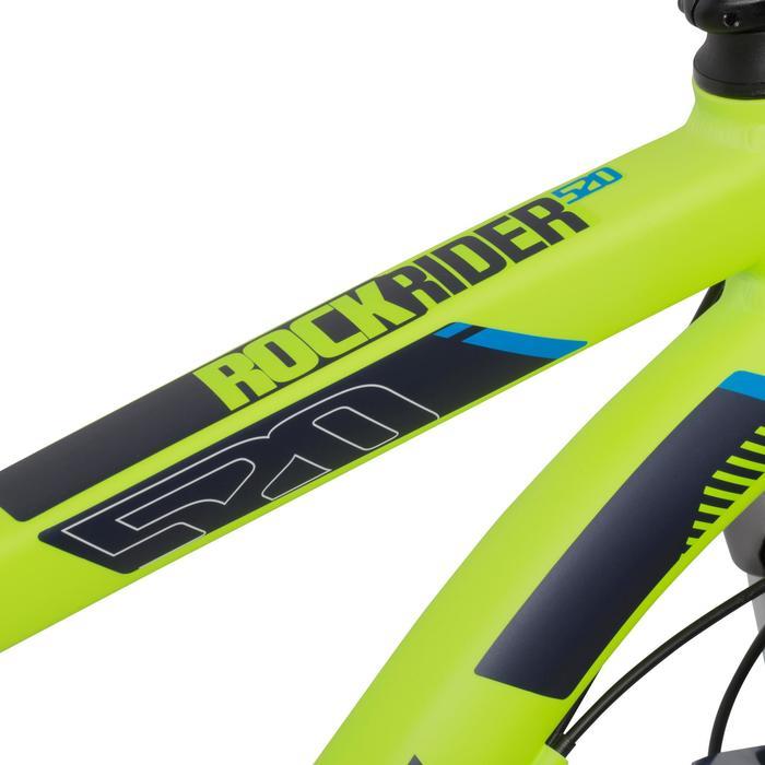 """MTB 27,5"""" Rockrider 520 neong."""