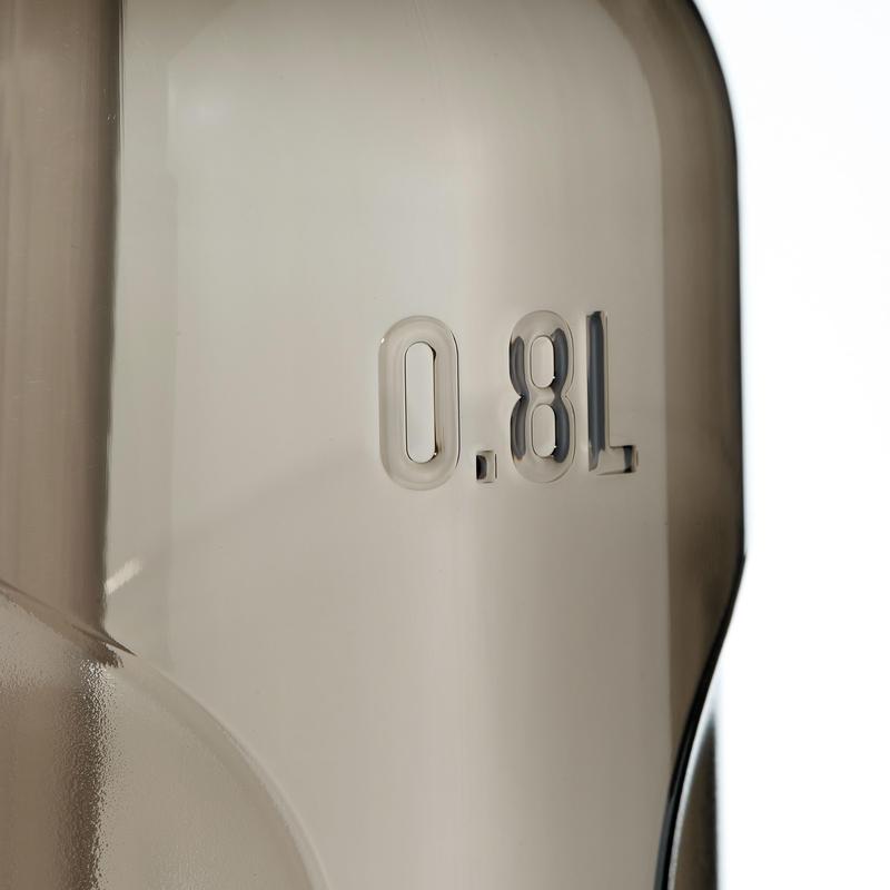 Gourde randonnée 900 bouchon instantané pipette 0,8 L plastique (Tritan) noir