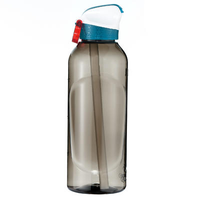 900 Hiking Flask instant opening with straw, 0.8 litre plastic (Tritan) - Black