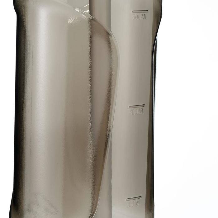 Cantimplora senderismo 900 tapón instantáneo pipeta 0,8L plástico (Tritan) negro