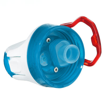 Cantimplora senderismo 900 tapa instantánea pitillo 0,5L plástico (Tritán) azul
