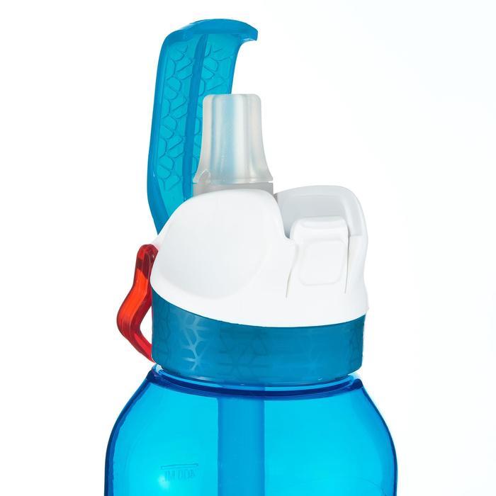 Trinkflasche 900 Tritan Trinkhalm Klickverschluss 0,5Liter blau