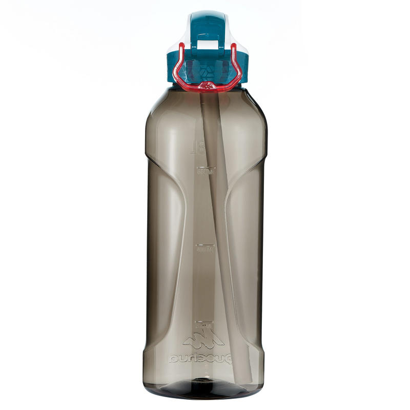 Bottle 0.8L Tritan (Quick-Opening with Straw) - Black