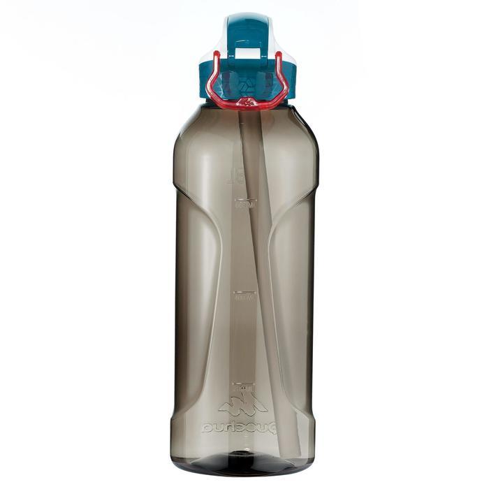 Drinkfles voor wandelingen 900 sportdop drinktuitje 0,8 l plastic (tritan) zwart