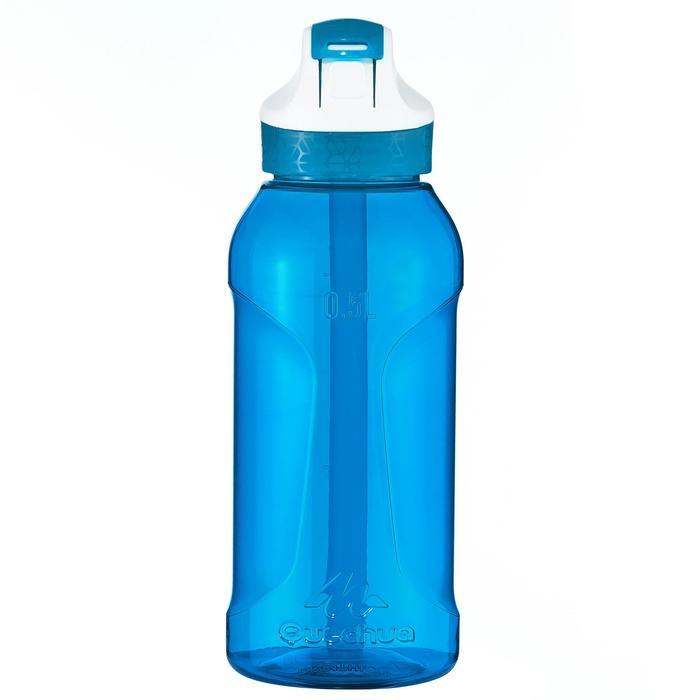 Trinkflasche Tritan 900 mit Trinkhalm-Klickverschluss 0,5Liter blau