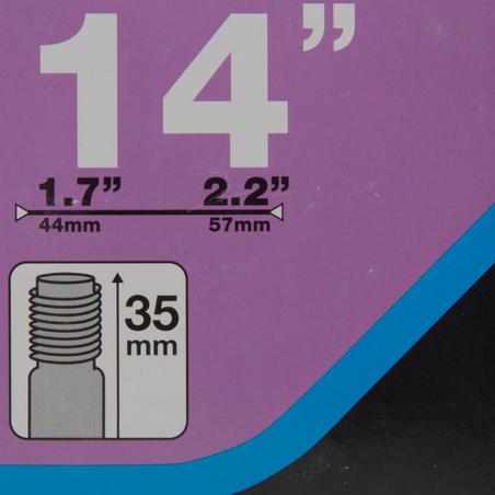 """14 col. 1,7–2,2 kamera su """"Schrader"""" ventiliu"""