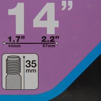 """14"""" 1.7 to 2.2 Schrader Valve Inner Tube"""
