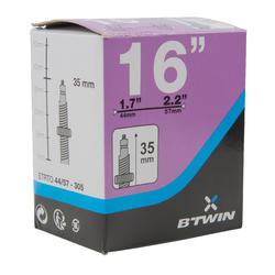 Binnenband 16 inch doorsnede 1.7 tot 2.2 Presta-ventiel - 1042767