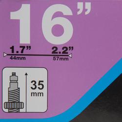 CHAMBRE À AIR 16 POUCES SECTION 1,7 à 2,2 VALVE PRESTA
