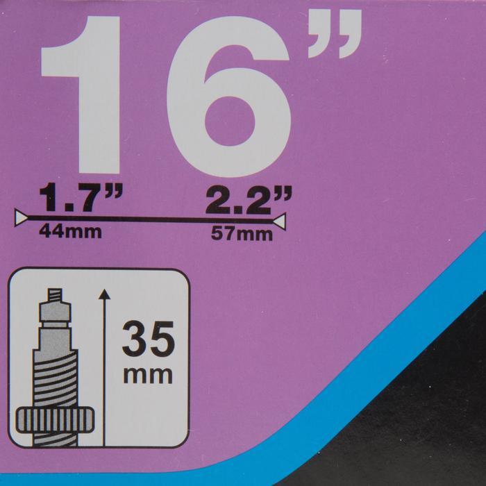 CHAMBRE A AIR 16 POUCES SECTION 1,7 à 2,2 VALVE PRESTA