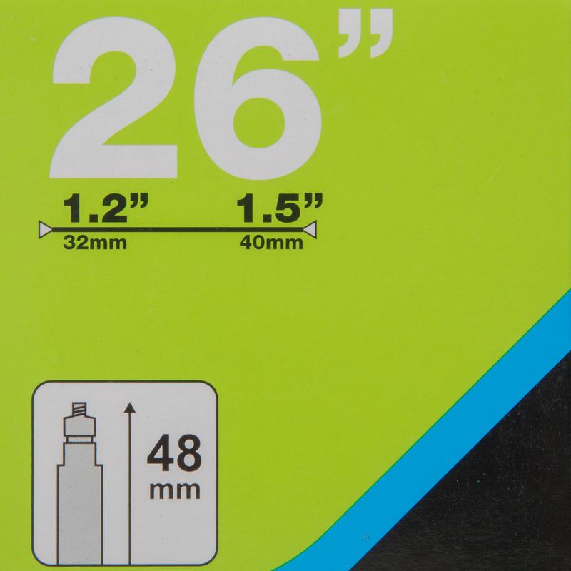 CÁMARA 26x1,2/1,5 VÁLVULA PRESTA 48 mm