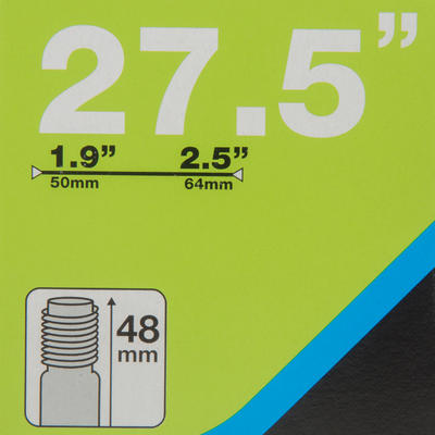 NEUMÁTICO rin 27,5x1,9/ 2,5 VÁLVULA SCHRADER 48 mm