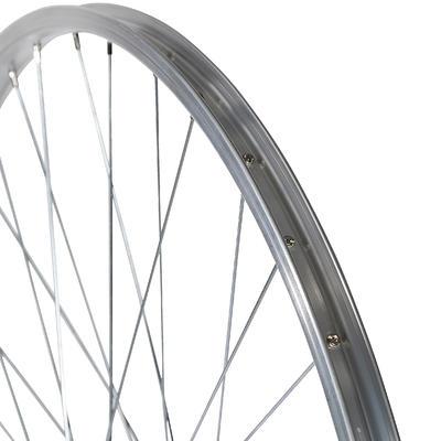 "Wheel 28"" Rear Single Wall Rim Freewheel V-Brake Screw Hybrid Bike - Silver"