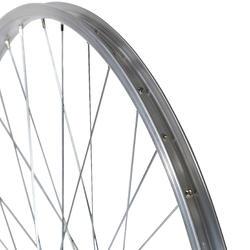 """Achterwiel hybride fiets 28"""" zilverkleurig - 1043151"""