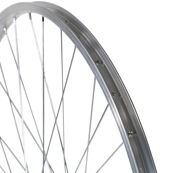 "ACHTERWIEL HYB 28"" / ENKELWANDIG / Freewheel / V-brake/ Schroef / Zilver"